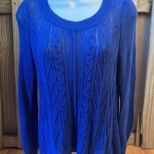 SPARROW Anthropologie Blue Knit Pullover Sweater M